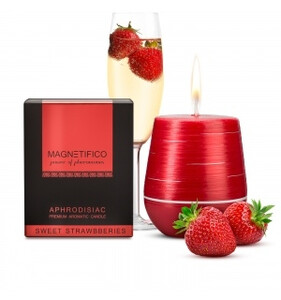 Świeca zapachowa MAGNETIFICO Aphrodisiac Candle Sweet Strawberry 34h 010298